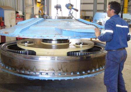 Assembly Of Epicyclic Planetary Bucket Wheel Reclaimer Gearbox Karratha InLine Engineering
