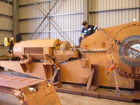 Bucket Wheel Reclaimer Gearbox At Inline's Workshop In Preparation For Overhaul