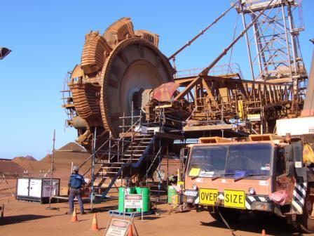 Reistallation Of Bucket Wheel Reclaimer Gearbox On Site Karratha InLine Engineering